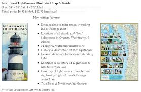 map of oregon lighthouses terra adventures in map publishing new northwest