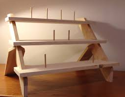 Free Standing Wood Shelves Plans by Free Standing 3 Shelf Display Stand For Showing Your Wares At