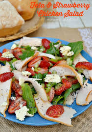 Light Dinner Feta And Strawberry Chicken Salad With A Blast