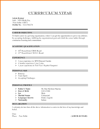 resume format in word simple format for resume