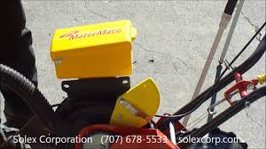 Walk Behind Seed Planter by Matermacc Walk Behind Planter Youtube