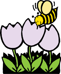 bee pollinating flower clipart clipartxtras