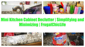 mini kitchen cabinet declutter simplifying and minimizing