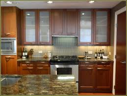 Wholesale Kitchen Cabinet Doors by Hard Maple Wood Saddle Glass Panel Door Cheap Kitchen Cabinet