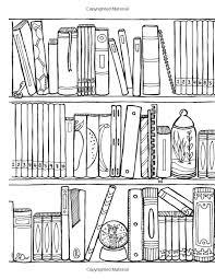 bookshelf coloring book 45 weirdly wonderful designs