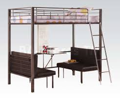 Bunk Beds  Twin Loft Bed With Stairs Low Loft Bed With Desk - Twin bunk bed with futon convertible