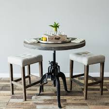 Grey Bistro Table Foundry Crank Bistro Table Grey Trove Warehouse