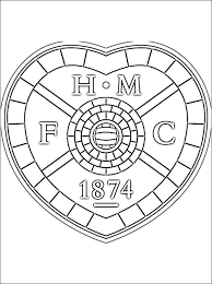 coloring pages of heart emblem of heart of midlothian f c coloring page coloring pages