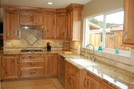 kitchen cabinets with light granite countertops custom designed kitchen with wood cabinets tile backsplash