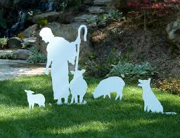 outdoor nativity sets large standing shepherd for mynativity outdoor nativity