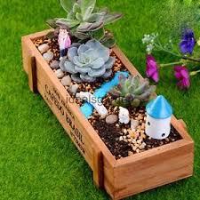 Rectangular Succulent Planter by Wood Garden Flower Herb Succulent Pot Rectangle Case Box Plant Bed