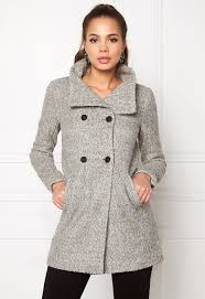 light grey wool coat only new sophia wool coat light grey melange bubbleroom