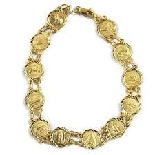 saints bracelet 14k yellow gold all saints charm medals bracelet samsclub