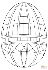 geometric easter egg coloring page free printable coloring pages