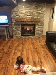 Laminate Flooring At Menards Our Amazing Basement Fireplace Stone From Menards Laminate