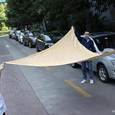 Triangular Patio Awnings Waterproof Shade Sail Awnings Canopies U0026 Tents Ebay