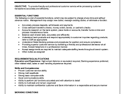 Duties Of A Teller For Resume Download Head Teller Resume Haadyaooverbayresort Com
