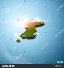 Realistic Map Of The World by Realistic 3d Map Korea Stock Illustration 540605485 Shutterstock