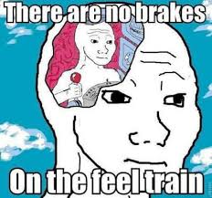 Feel Meme Pictures - there are no breaks on the feel train meme by bdstore redbubble