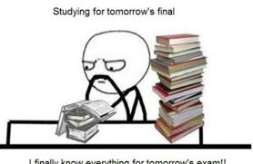 Studying For Finals Meme - funny studying for finals memes