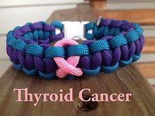 thyroid cancer awareness paracord bracelet custom by knotcreations