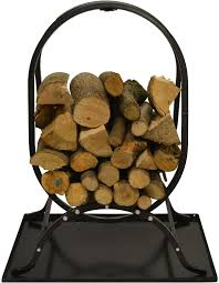 hausen oval firewood rack fireplace accessories true north