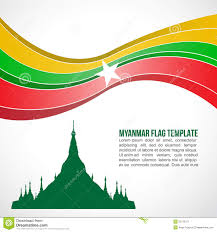 Myanmar Flag Photos Abstract Myanmar Flag Wave And Shwedagon Pagoda Stock Vector