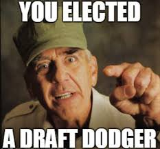 Who Is This Meme - this draft dodger meme dodges truth and common sense 皓 verily i