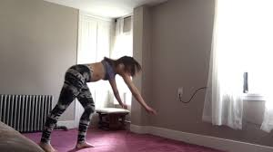 Home Yoga Routine by At Home Yoga Routine Handstands And Backbends On The Wall Youtube