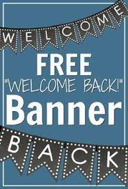 welcome back to chalkboard banners free classroom