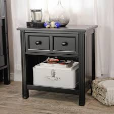 bedroom traditional style black nightstand with drawer featured