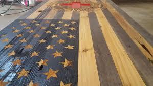 Reclaimed Wood Flag Reclaimed American Flag