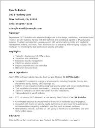 Industrial Maintenance Resume Examples by Professional Cctv Installer Templates To Showcase Your Talent