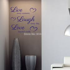 popular wall murals words buy cheap wall murals words lots from live every moment laugh every day wall art stickers wall decal home diy decoration decor wall