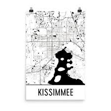 Kissimmee Florida Map by Kissimmee Fl Street Map Poster Products Print And Art