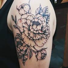peonies tattoo by fuufers on deviantart