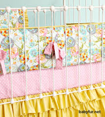Shabby Chic Baby Bedding For Girls by Floral Baby Bedding Mustard Yellow Baby Bedding Pink And
