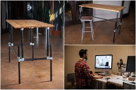 innovative diy standing desks built with pipe and kee klamp in