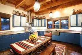 southwest style kitchen cabinets style kitchen with plants and