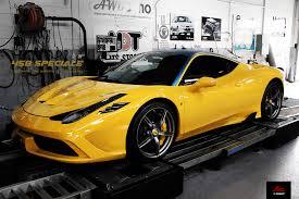 Ferrari 458 Yellow - lightning yellow ferrari 458 speciale with fi exhaust installation