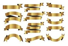 gold ribbons gold ribbon free vector 5179 free downloads
