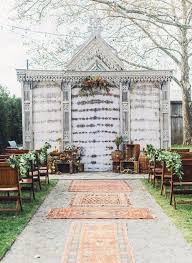 Outdoor Cer Rug This New Rug Aisle Decor Trend Is A Boho Wedding Brit Co