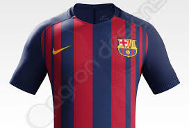 the first design sketch for the barcelona 17 18 home kit has been