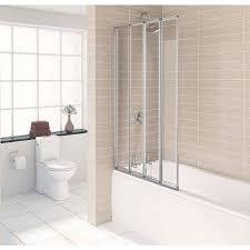 1500 x 700 shower bath with 4 folding screen