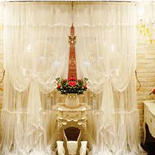 Curtains Wedding Decoration Aliexpress Com Buy Romantic Lace Curtain Mediterranean Window