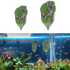 aquarium floating rocks stones fish aquatic decorations