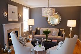 gray taupe paint living room traditional with wood trim solid