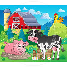 cartoon farm animals theme image by clairev toon vectors eps 71629