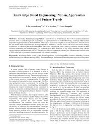 cbr engineering knowledge based engineering notion approaches and future trends