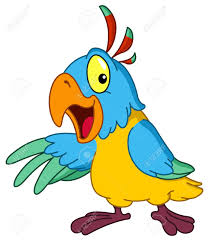 cartoon cockatiel cartoon parrot presenting with his wing royalty free cliparts